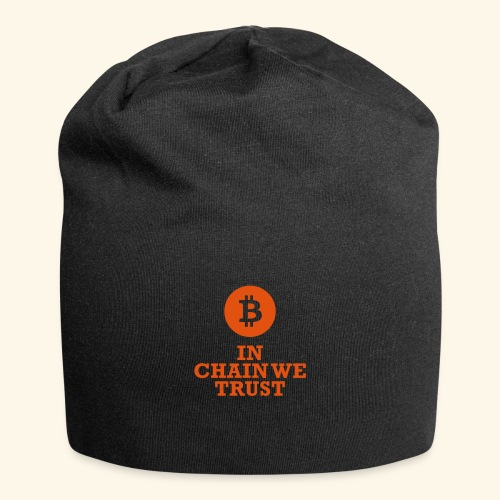 Bitcoin: In chain we trust - Jersey-Beanie