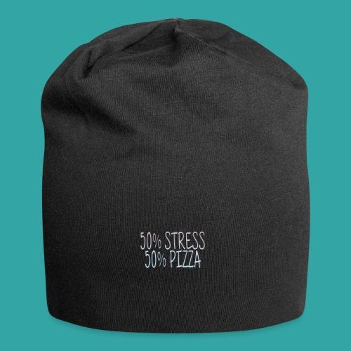 50% stress 50% pizza - Jersey Beanie