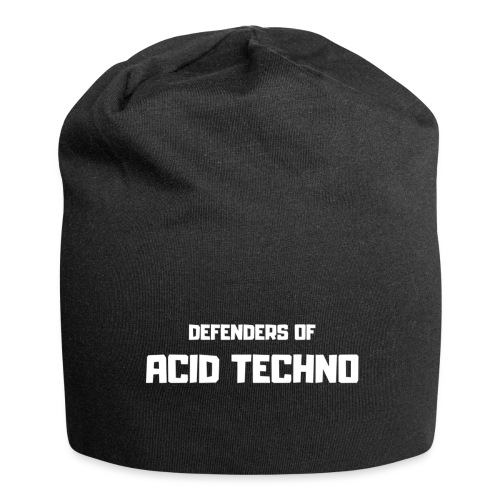 Defenders of Acid Techno [White Print] - Jersey Beanie
