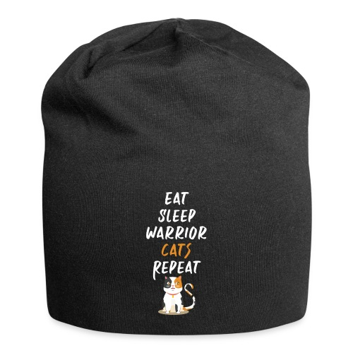 Eat sleep warrior cats repeat - Bonnet en jersey
