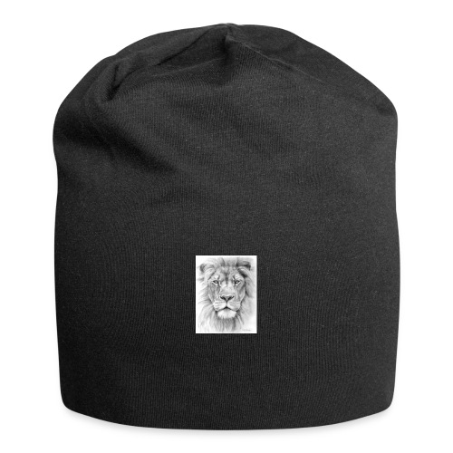 lion sketched png - Jersey Beanie