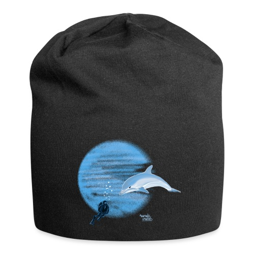 Dolphin and diver - Maillots - Bonnet en jersey
