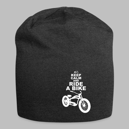 keep Calm and Ride a Bike Geschenkidee - Jersey-Beanie