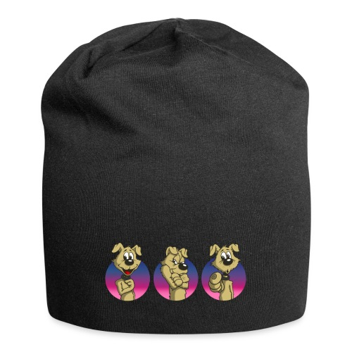 "Comic Hund in Gebärdensprache ""I love you"" - Jersey-Beanie"