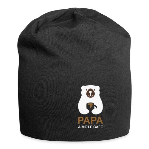 Papa aime le café noir - Bonnet en jersey