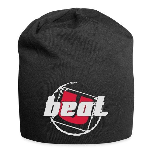 BeatU Logo Weiß/Rot - Jersey-Beanie