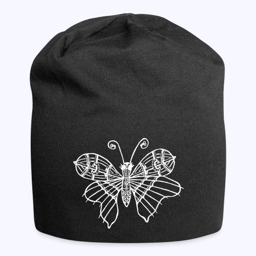 Schmetterling weiss - Jersey-Beanie