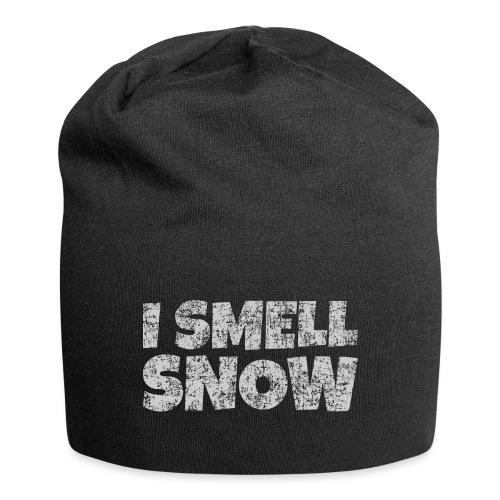 I Smell Snow (Grau) Schnee, Winter, Wintersport - Jersey-Beanie