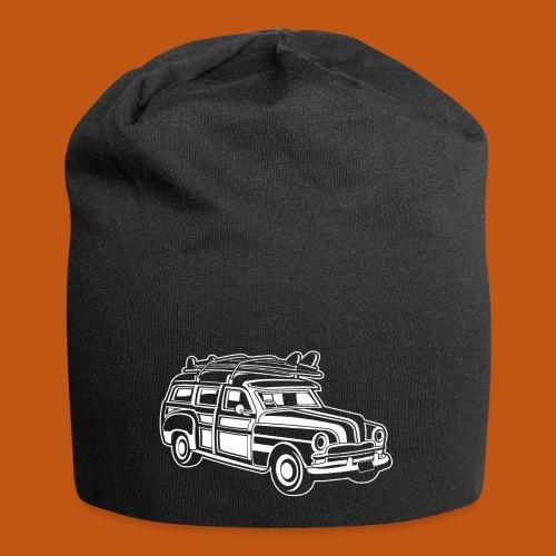 Chevy Cadilac Woodie / Oldtimer Kombi 01_weiß - Jersey-Beanie
