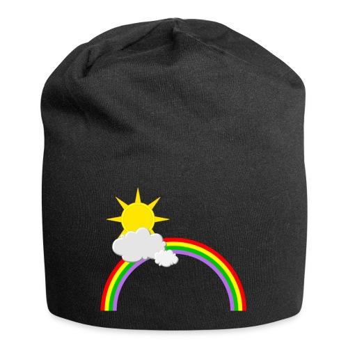 Regenbogen, Sonne, Wolken - Jersey-Beanie