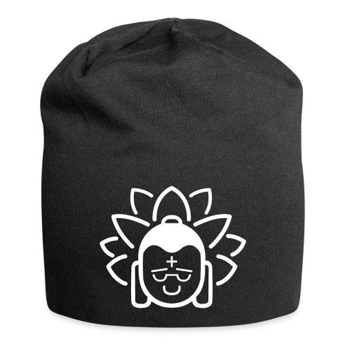 Boeddha hoofd blad - Jersey-Beanie