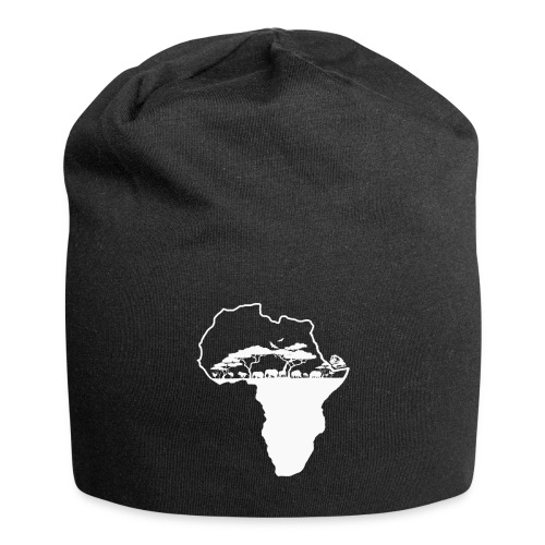 Savane Afrique logo Blanc - Bonnet en jersey