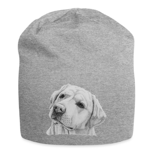 labrador retriever yellow - head - Jersey-Beanie