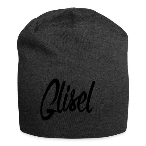 Glisel Logo schwarz transparent - Jersey-Beanie