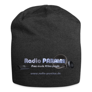 Radio PARALAX Facebook-Logo mit Webadresse - Jersey-Beanie