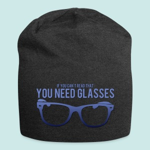 Need Glasses - Blue - Bonnet en jersey