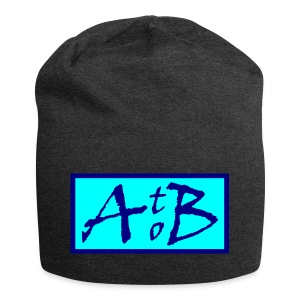 AtoB Logo light blue - Jersey Beanie