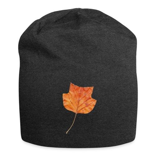 Herbst-Blatt - Jersey-Beanie