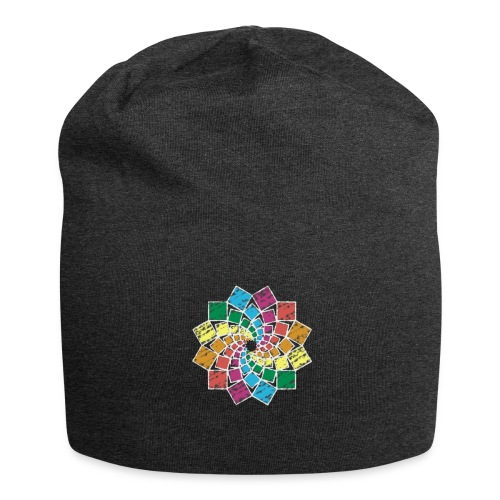 Squares Flower - Jersey-Beanie