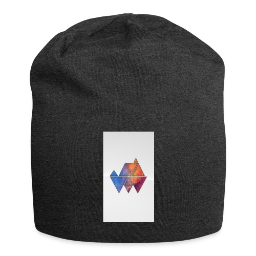 Colourful_Triangles - Jersey-Beanie