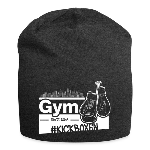 Gym Druckfarbe weiss - Jersey-Beanie