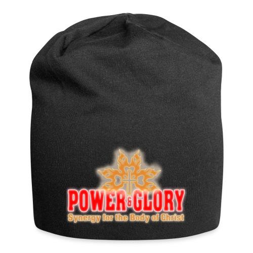 Power and Glory Logo glow red and orange - Jersey Beanie