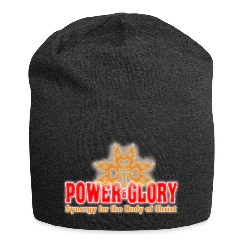 Power and Glory Logo glow red and orange - Jersey Beanie