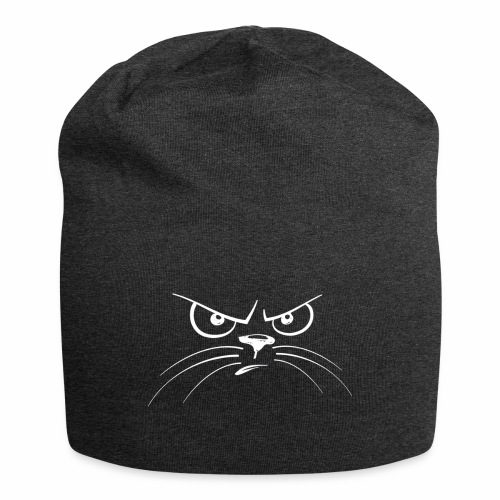 GATTO ARRABBIATO BIANCO - ANGRY CAT - Beanie in jersey