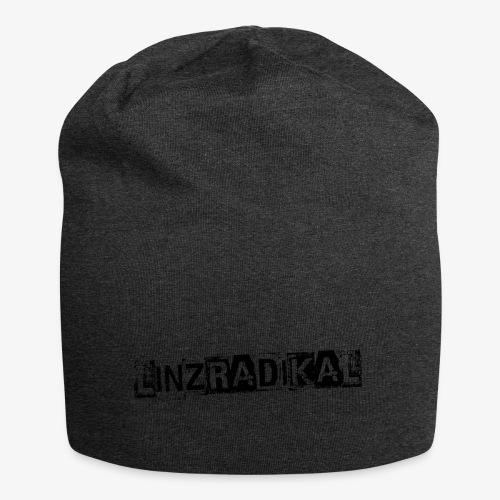 Linzradikal schwarz - Jersey-Beanie