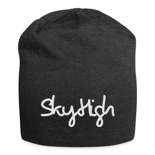 SkyHigh - Women's Premium T-Shirt - Gray Lettering - Jersey Beanie