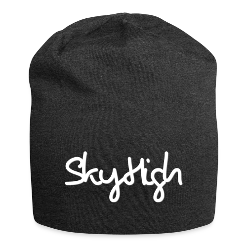 SkyHigh - Men's Premium Hoodie - White Lettering - Jersey Beanie