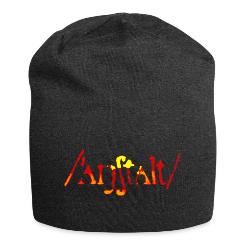 /'angstalt/ logo gerastert (flamme) - Jersey-Beanie