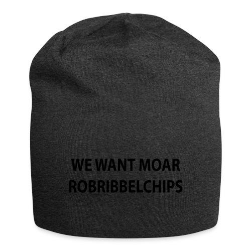 We want Moar RobRibbelchips T-Shirt (Male) - Jersey Beanie