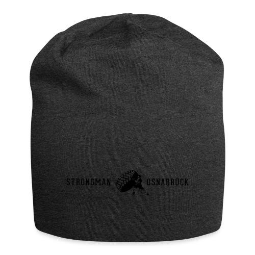 Strongman Logo schwarz - Jersey-Beanie