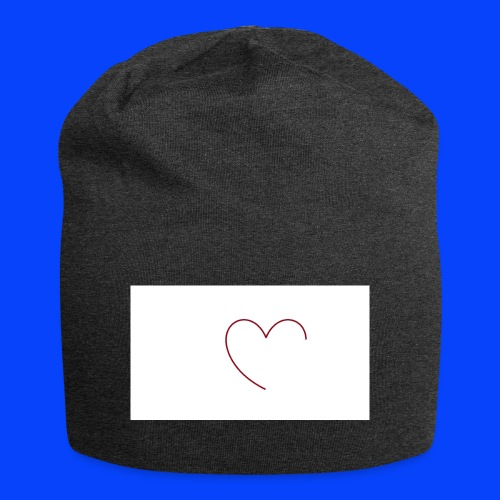 t-shirt bianca con cuore - Beanie in jersey