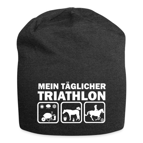 Mein täglicher Triathlon Pferd - Jersey-Beanie