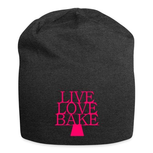 LiveLoveBake ekstra stor - Jersey-Beanie