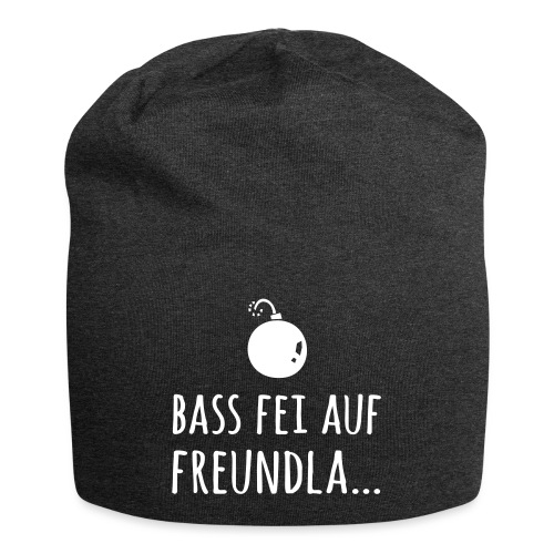 Bass fei auf Freundla - Jersey-Beanie