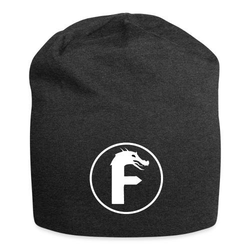 frontier dragon logo circle (white) - Jersey Beanie