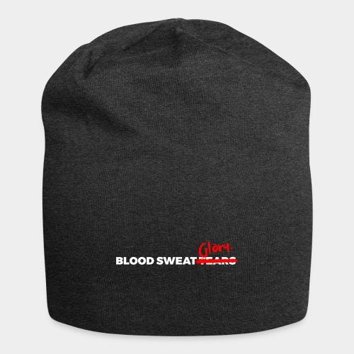 BLOOD SWEAT GLORY white - Jersey Beanie