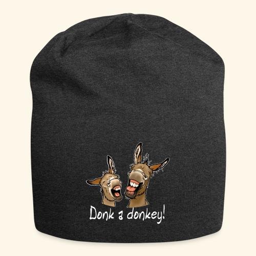 Ane Donk a donkey (texte blanc) - Bonnet en jersey