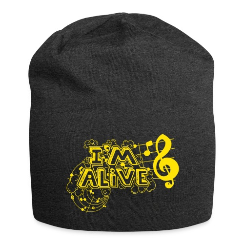 i m alive geel png - Jersey-Beanie