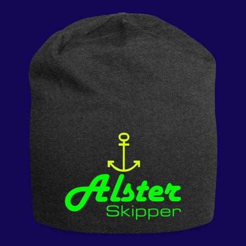 Hamburg maritim: Alster Skipper mit Anker - Jersey-Beanie