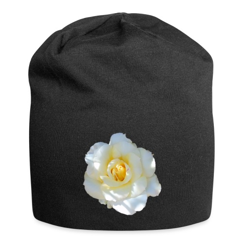 A white rose - Jersey Beanie