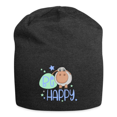 Be happy Schaf - Glückliches Schaf - Glücksschaf - Jersey-Beanie
