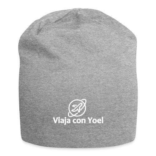 Viaja con Yoel White Logo - Gorro holgado de tela de jersey