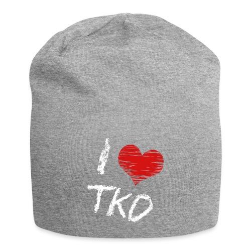 I love tkd letras blancas - Gorro holgado de tela de jersey