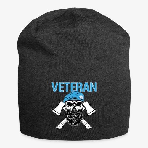Veteran - Dödskalle med blå basker och yxor - Jerseymössa