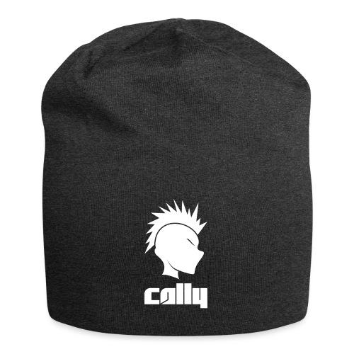 Cally Mohawk & Text Logo - Jersey Beanie