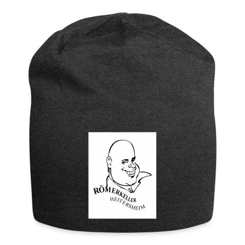 Roemerkeller weiss Logo Kopf OHNE RAND jpg - Jersey-Beanie
